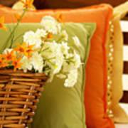 A Basket Of Blooms Art Print