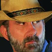 A Bearded Cowboy Art Print
