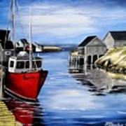 A Beautiful Day At Peggy's Cove  Art Print
