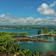 A Beautiful Day Over Hilo Bay Art Print