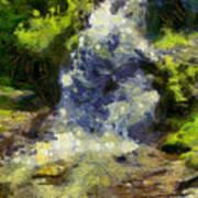 A Beautiful Waterfall Art Print