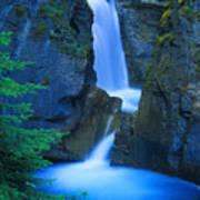 A Beautiful Waterfall, Johnston Canyon Art Print
