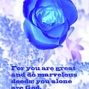 A Blue Rose Ps. 86 V 10 Art Print