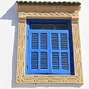 A Blue Window In Morocco Art Print
