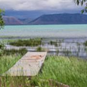 A Boardwalk To Bear Lake Art Print