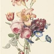 A Bouquet, Henriette Geertruida Knip, Ca. 1820 Art Print