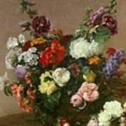A Bouquet Of Mixed Flowers Art Print