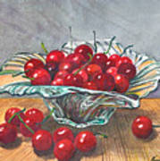 A Bowl Full Of Cherries Art Print