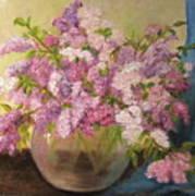 A Bowl Full Of Lilacs Art Print