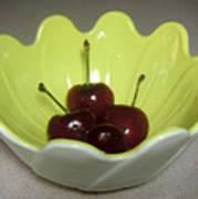 A Bowl Of Cherries Art Print