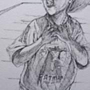 A Boy With A Hat Art Print