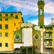 A Breeze Over Florence Art Print