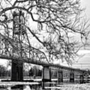 A Bridge In Winter Art Print