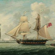 A Brig Entering Liverpool Art Print by John Jenkinson