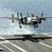 A C-2a Greyhound Prepares To Land Art Print