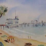 A California Pier Art Print