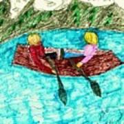 A Canoe Ride Art Print