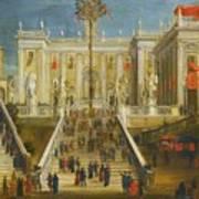 A Capriccio View Of The Campidoglio Art Print