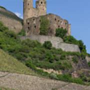 A Castle Among The Vineyards Art Print