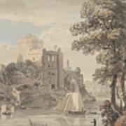 A Castle On A River Art Print