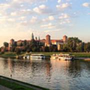 A Castle On The River Art Print