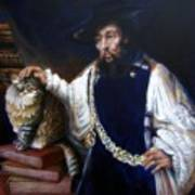 A Cat For Rembrandt_ Aristotle Caresses Calliope Art Print