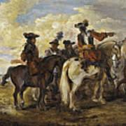 A Cavalry Skirmish Art Print