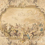 A Ceiling With Apollo Presiding Over Military And Historical Learning Art Print