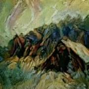 A Chance In The World Movie Dark Barn Crowded Into A Gully Between A Large Rocky Hill And A Grove Of Art Print