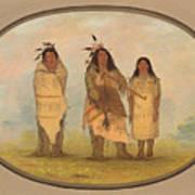 A Cheyenne Chief His Wife And A Medicine Man Art Print