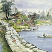 A Chinese Village Art Print