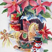 A Christmas Fantasy Art Print