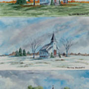 A Church For All Seasons Art Print
