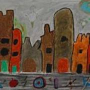 A Child's View Of Downtown Art Print