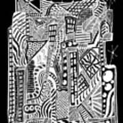 A City 2...   -  Une Ville 2... Art Print