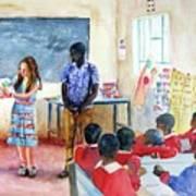 A Classroom In Africa Art Print