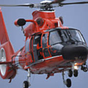 A Coast Guard Mh-65 Dolphin Helicopter Print by Stocktrek Images