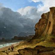 A Coastal Scene Art Print