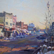 A Cold Sunny Day At Webster St Art Print