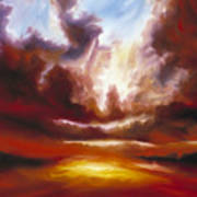 A Cosmic Storm - Genesis V Art Print