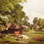 A Cottage Home In Surrey Print by Edward Henry Holder