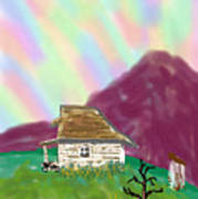 A Cottage In The Alps Art Print