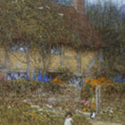 A Cottage Near Godalming Surrey Art Print
