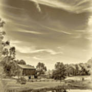 A Country Place 3 - Sepia Art Print