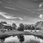 A Country Place Bw Art Print