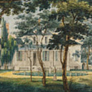 A Country Residence Possibly General Moreau's Country House At Morrisville Pennsylvania Art Print