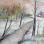 A Country Winter Art Print