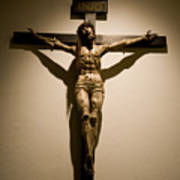 A Crucifix In The Old Saint Francis Art Print