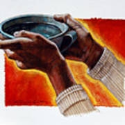 A Cup Of Water Art Print