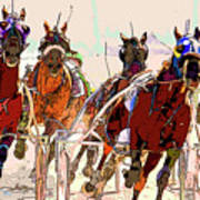A Day At The Races 2 Art Print